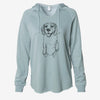 Doodled JimmyCharles the Beagle - Cali Wave Hooded Sweatshirt
