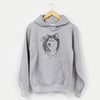 Doodled Kai the Siberian Husky - Unisex Hooded Sweatshirt