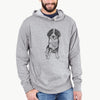 Doodled Kimber the Bernese Mountain Dog - French Terry Hooded Sweatshirt