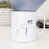 Doodled Lilly the English Pointer - 14oz Metal Mug