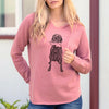 Doodled Lucy the Mixed Breed - Cali Wave Hooded Sweatshirt