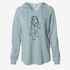 Doodled Merlin the Cocker Spaniel - Cali Wave Hooded Sweatshirt