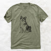 Doodled MiniJack the Mini Aussie - Unisex V-Neck Shirt