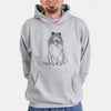 Doodled Monroe the Shetland Sheepdog - Unisex Hooded Sweatshirt