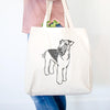 Doodled Nash the Airedale Terrier - Tote Bag
