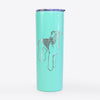 Doodled Nash the Airedale Terrier - 20oz Skinny Tumbler