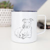 Doodled Nugget the Pitbull - 14oz Metal Mug