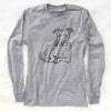 Doodled Nugget the Pitbull - Long Sleeve Crewneck