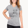 Doodled Nugget the Pitbull - Women's Modern Fit V-neck Shirt