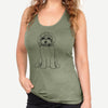 Doodled Penny Lane the Cavapoo - Racerback Tank Top