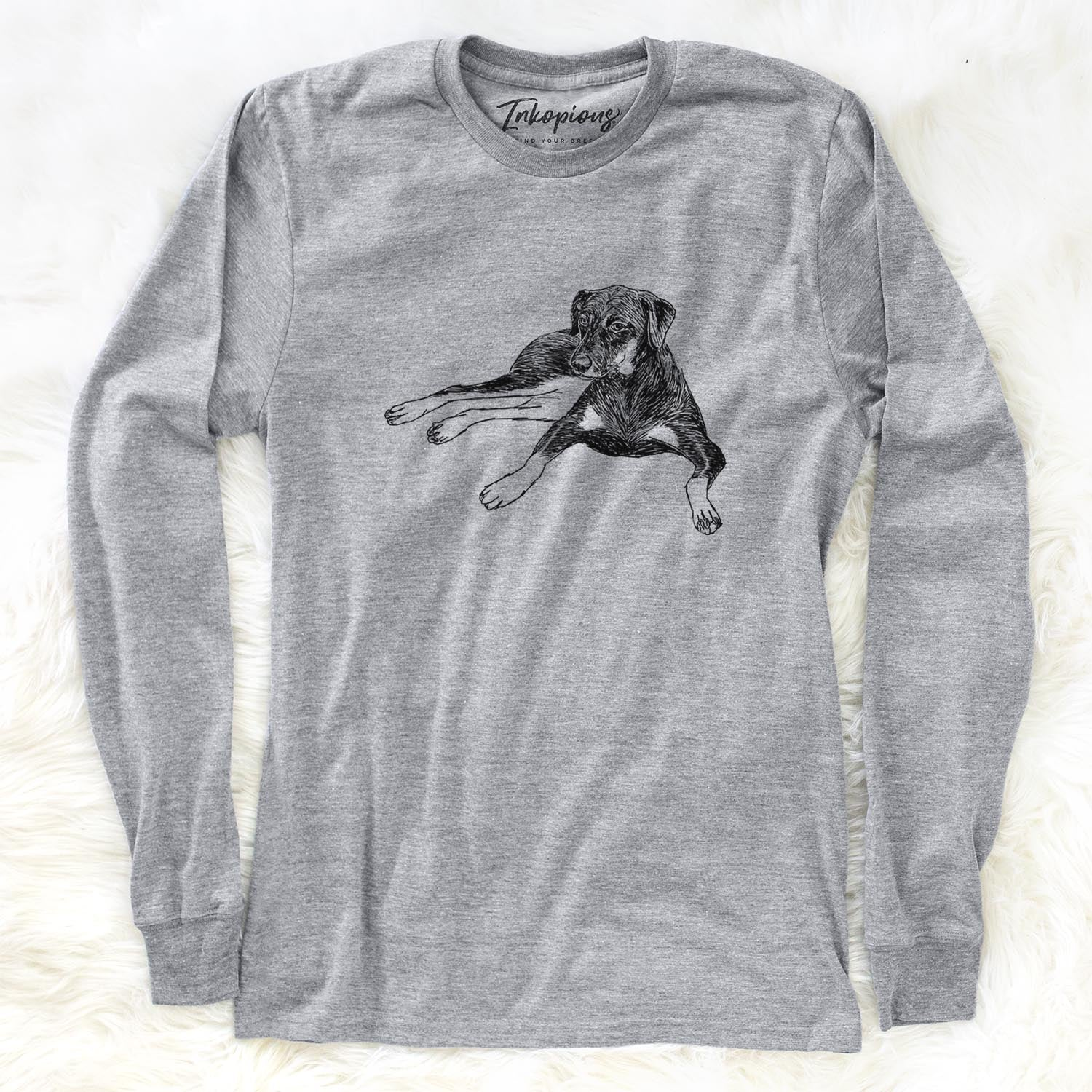 Doodled Penny Lee the Mixed Breed - Long Sleeve Crewneck
