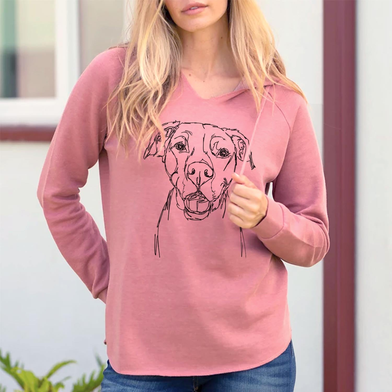 Doodled Pitbull Mix - Cali Wave Hooded Sweatshirt