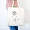Doodled Ruby the Goldendoodle - Tote Bag