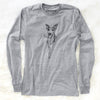 Doodled Sonic the Tripod Whippet - Long Sleeve Crewneck