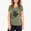 Doodled Sparty the Mixed Breed - Women's Modern Fit V-neck Shirt