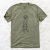 Doodled Tim Riggins the Vizsla - Unisex V-Neck Shirt