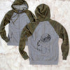 Doodled Tucker the Aussiedoodle - Unisex Raglan Zip Up Hoodie