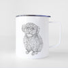 Doodled Boomer the Toy Poodle - 14oz Metal Mug