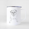 Doodled Bugsy the Pug - 14oz Metal Mug