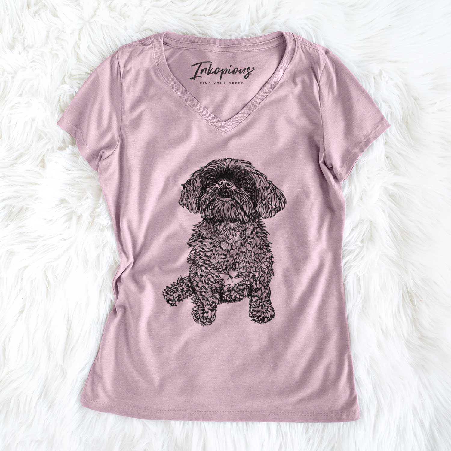 Doodled Chewie the Peekapoo - Women's Perfect V-neck Shirt