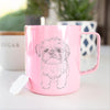 Doodled Gertrude McFuzz the Mini Shih Tzu - 14oz Metal Mug