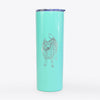 Doodled Oban Bear the Norwegian Elkhound - 20oz Skinny Tumbler