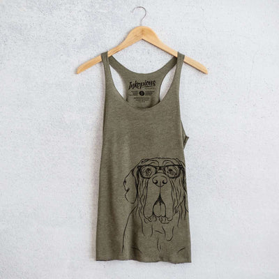Dinah the Neapolitan Mastiff  - Tri-Blend Racerback Tank Top