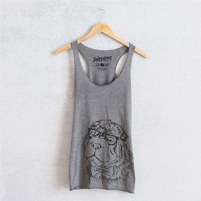 Einstein the Bear Coat Shar Pei - Tri-Blend Racerback Tank