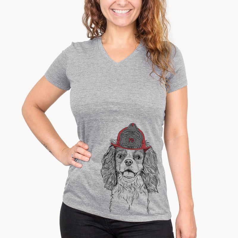 Poppy the Cavalier King Charles Spaniel  - Firefighter Collection