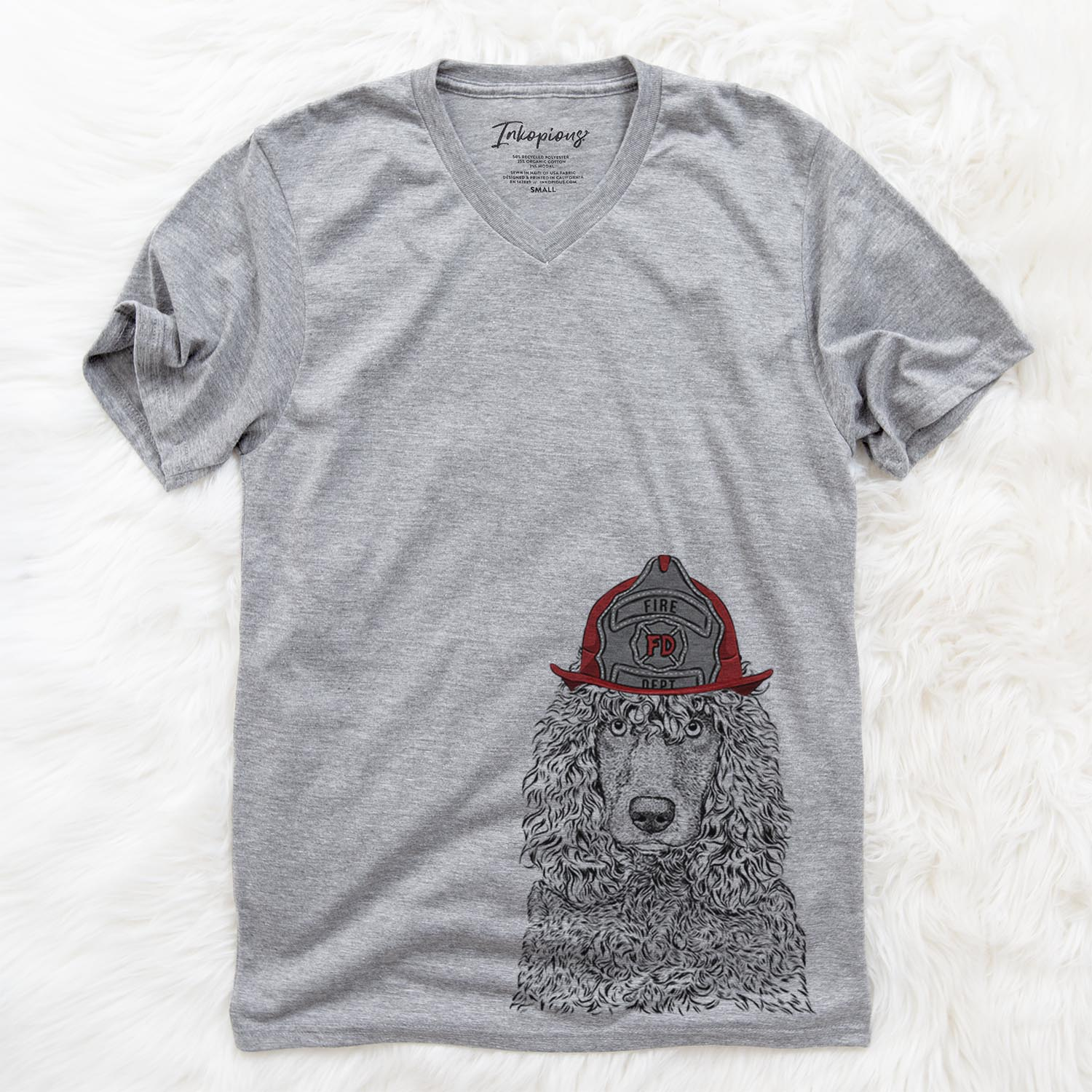 Shilo the Irish Water Spaniel  - Firefighter Collection