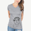 Darling Chloe the Pug - Women's Modern Fit V-neck Shirt