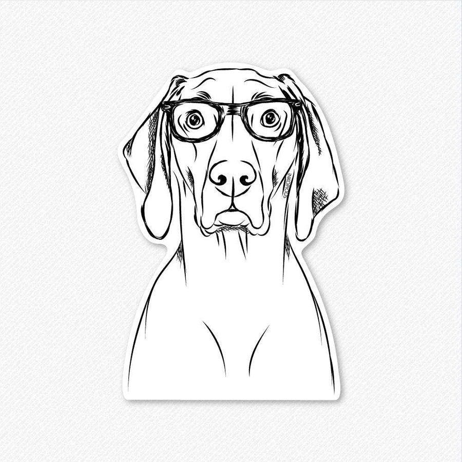 Flint the Nerd Weimaraner - Decal Sticker