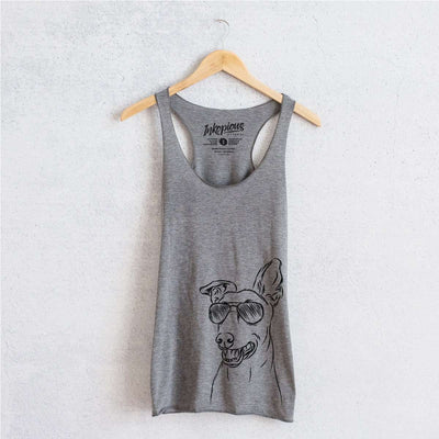 Frosty the Greyhound - Tri-Blend Racerback Tank Top