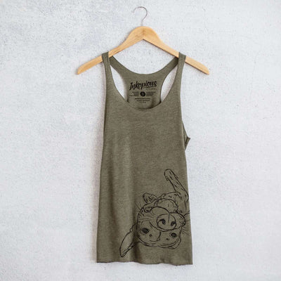 Goose the Mixed Breed - Tri-Blend Racerback Tank