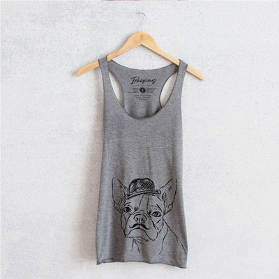 Charles the Boston Terrier - Tri-Blend Racerback Tank