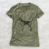 Halftone American Fox Hound  - Women's Modern Fit V-neck Shirt