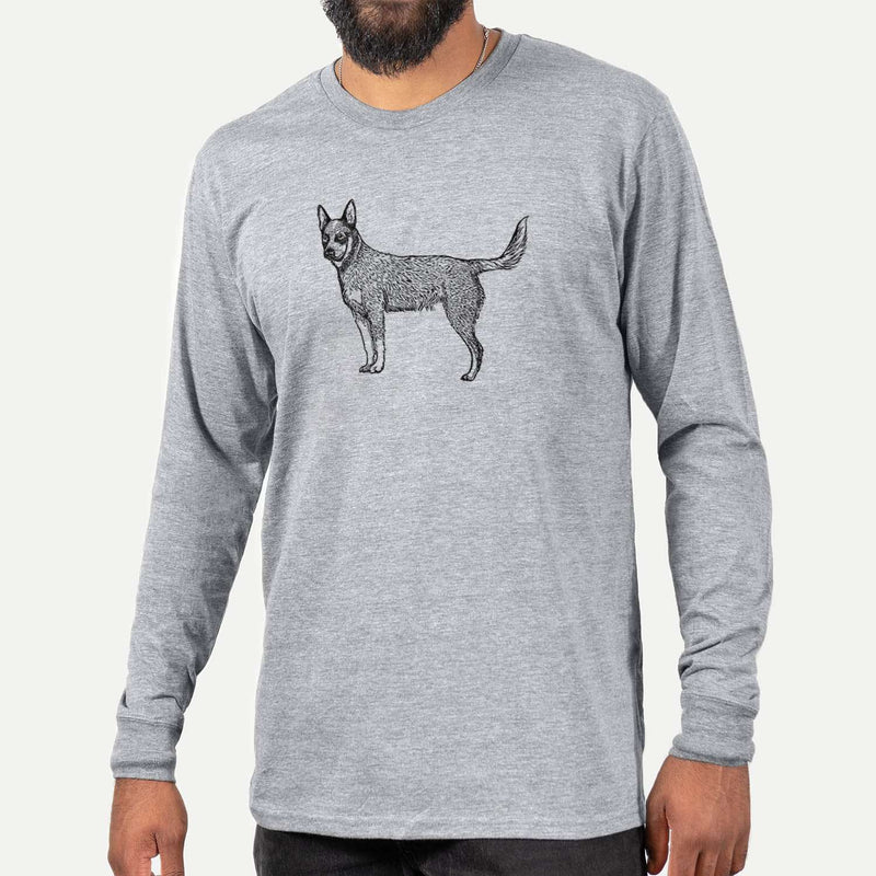 Halftone Australian Cattle Dog  - Long Sleeve Crewneck