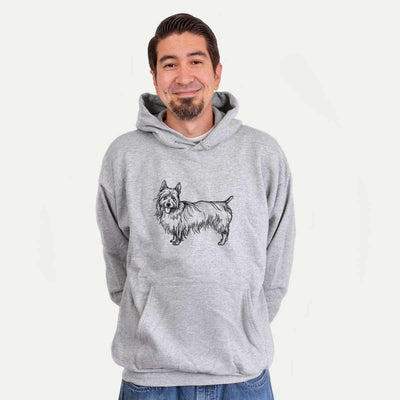 Halftone Australian Terrier  - Mens Hooded Sweatshirt