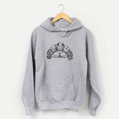 Halftone Baby Tortoise  - Mens Hooded Sweatshirt