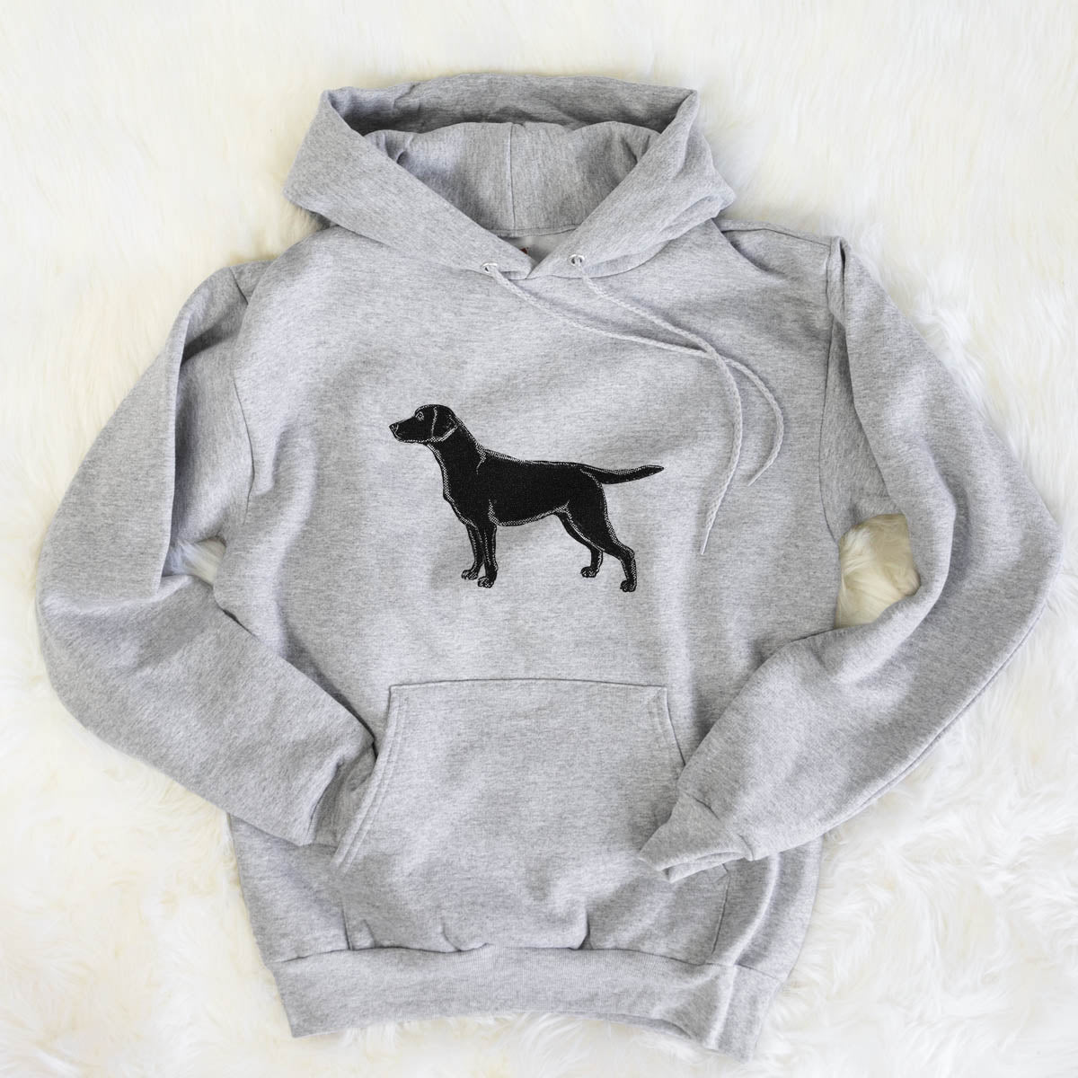 Halftone Black Lab  - Mens Hooded Sweatshirt