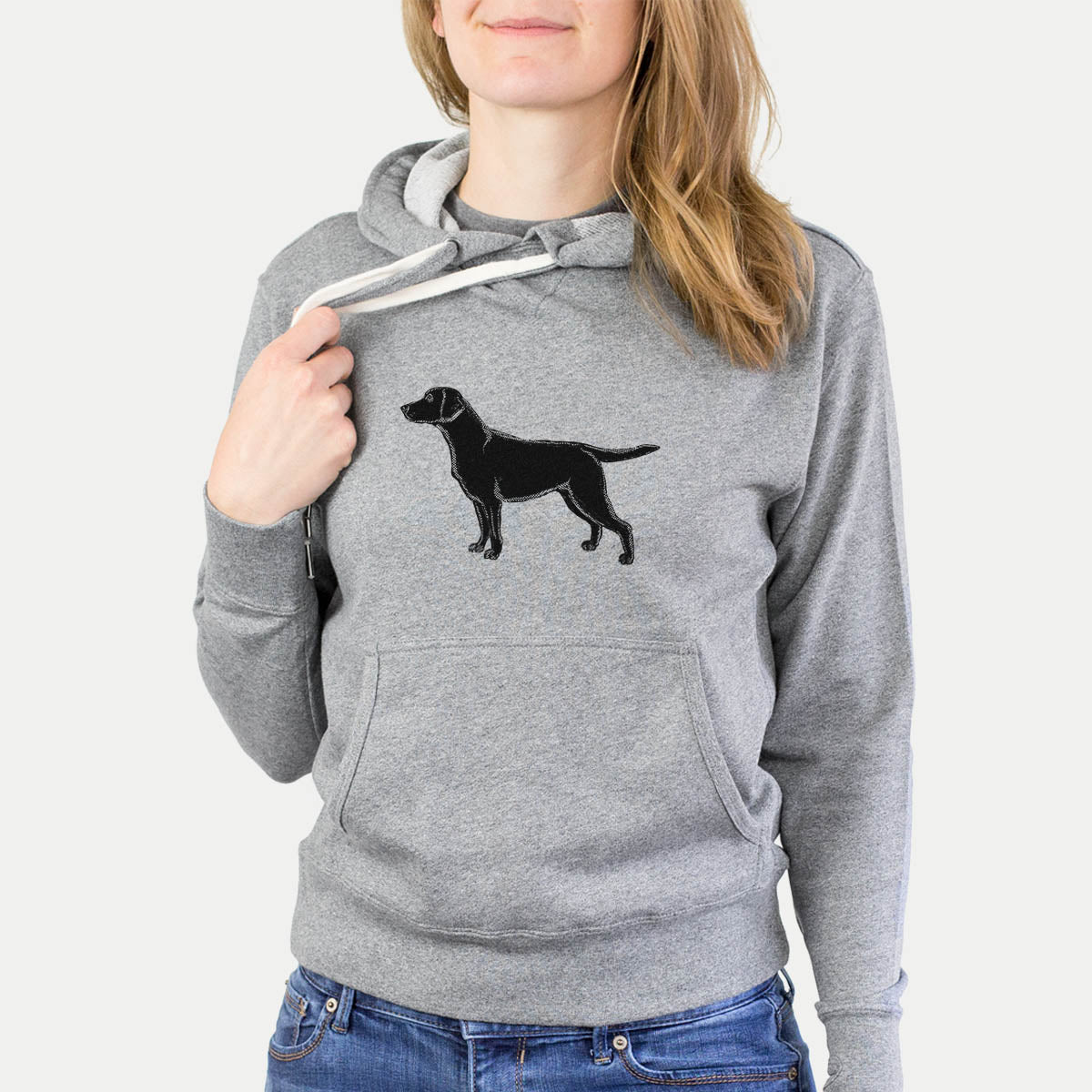 Halftone Black Lab  - French Terry Hooded Sweatshirt