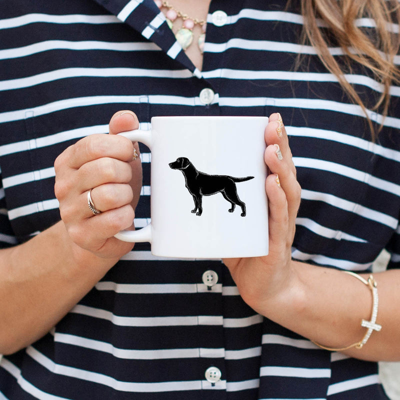 Halftone Black Lab  - Mug