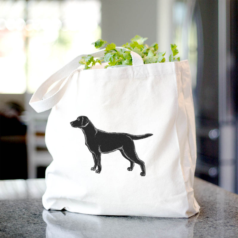 Halftone Black Lab  - Tote Bag