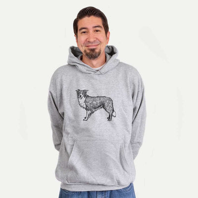 Halftone Border Collie  - Mens Hooded Sweatshirt