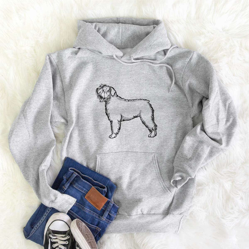 Halftone Bouvier des Flandres  - Mens Hooded Sweatshirt