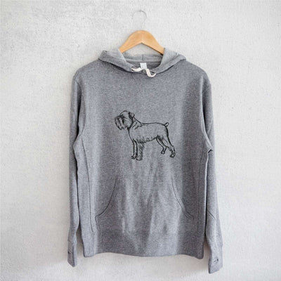 Halftone Brussels Griffon  - French Terry Hooded Sweatshirt