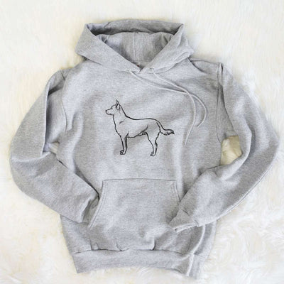 Halftone Carolina Dog Profile  - Mens Hooded Sweatshirt