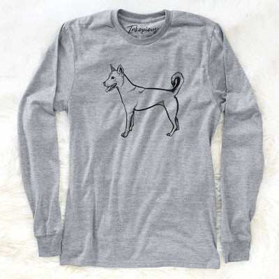 Halftone Carolina Dog Smiling  - Long Sleeve Crewneck