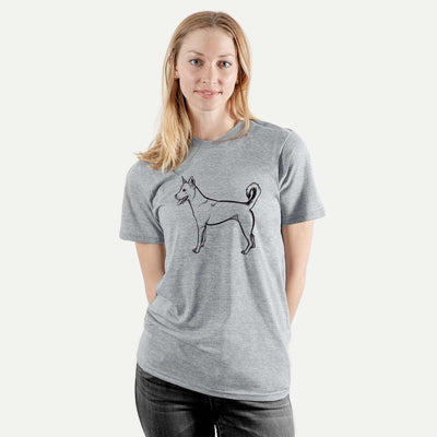 Halftone Carolina Dog Smiling  - Unisex Crewneck