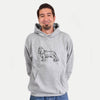 Halftone Cavalier King Charles Spaniel  - Mens Hooded Sweatshirt